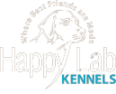 Happy Lab Kennels logo at Happy Lab Kennels